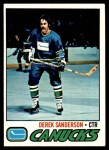 1977 Topps #46  Derek Sanderson  Front Thumbnail