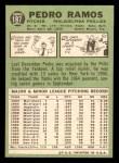 1967 Topps #187  Pedro Ramos  Back Thumbnail
