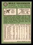 1967 Topps #605  Mike Shannon  Back Thumbnail