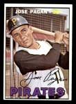 1967 Topps #322  Jose Pagan  Front Thumbnail