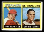 1967 Topps #253   -  Bill Davis / Gus Gil Indians Rookies Front Thumbnail