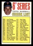 1967 Topps #454 TWO  -  Juan Marichal Checklist 6 Front Thumbnail