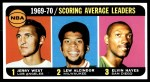 1970 Topps #2   -  Jerry West / Elvin Hayes / Lew Alcindor Scoring Average Leaders Front Thumbnail