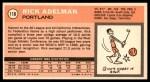 1970 Topps #118  Rick Adelman   Back Thumbnail