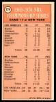 1970 Topps #174   -  Walt Frazier  1969-70 NBA Championship - Game 7 Back Thumbnail