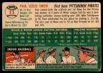 1954 Topps #11  Paul Smith  Back Thumbnail