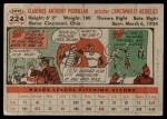 1956 Topps #224  Clarence 'Bud' Podbielan  Back Thumbnail