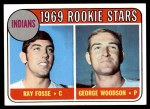 1969 Topps #244   -  Ray Fosse / George Woodson Indians Rookies   Front Thumbnail