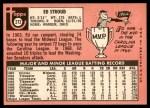 1969 Topps #272  Ed Stroud  Back Thumbnail