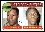 1969 Topps #156   -   Hal Gilson / Leon McFadden Astros Rookies Front Thumbnail