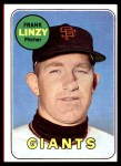 1969 Topps #345  Frank Linzy  Front Thumbnail