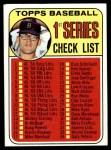 1969 Topps #57 CLR  -  Denny McLain Checklist 1 Front Thumbnail