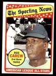 1969 Topps #419   -  Rod Carew All-Star Front Thumbnail