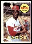 1969 Topps #85  Lou Brock  Front Thumbnail