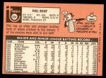 1969 Topps #334  Phil Roof  Back Thumbnail