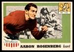 1955 Topps #13  Aaron Rosenberg  Front Thumbnail