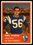 1963 Fleer #75  Emil Karras  Front Thumbnail
