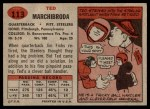 1957 Topps #113  Ted Marchibroda  Back Thumbnail