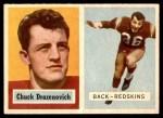 1957 Topps #60  Chuck Drazenovich  Front Thumbnail