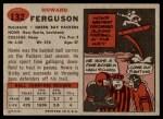 1957 Topps #132  Howard Ferguson  Back Thumbnail