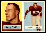 1957 Topps #125  Jerry Tubbs  Front Thumbnail