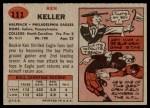 1957 Topps #111  Ken Keller  Back Thumbnail