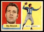 1957 Topps #47  Don Heinrich  Front Thumbnail