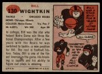 1957 Topps #130  Bill Wightkin  Back Thumbnail