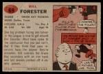 1957 Topps #69  Bill Forester  Back Thumbnail