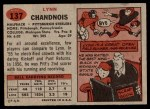 1957 Topps #137  Lynn Chandnois  Back Thumbnail