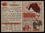1957 Topps #35  Emlen Tunnell  Back Thumbnail