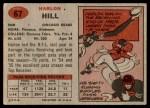 1957 Topps #67  Harlon Hill  Back Thumbnail
