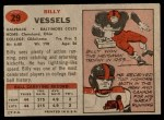 1957 Topps #29  Billy Vessels  Back Thumbnail