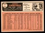 1966 Topps #73 xSTR Jerry Zimmerman   Back Thumbnail