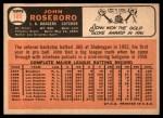 1966 Topps #189  John Roseboro  Back Thumbnail