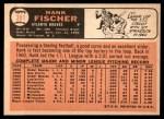 1966 Topps #381  Hank Fischer  Back Thumbnail