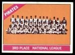 1966 Topps #404 DOT  Pirates Team Front Thumbnail