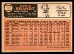 1966 Topps #383  Jackie Brandt  Back Thumbnail