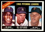 1966 Topps #224   -  Jim Grant / Jim Kaat / Mel Stottlemyre AL Pitching Leaders Front Thumbnail