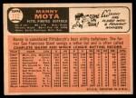 1966 Topps #112  Manny Mota  Back Thumbnail