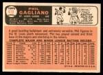 1966 Topps #418  Phil Gagliano  Back Thumbnail