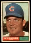 1961 Topps #107 CUT Seth Morehead  Front Thumbnail