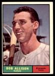 1961 Topps #355  Bob Allison  Front Thumbnail