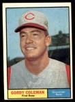 1961 Topps #194  Gordy Coleman  Front Thumbnail
