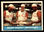 1961 Topps #25   -  Frank Robinson / Vada Pinson / Gus Bell Reds Heavy Artillery Front Thumbnail