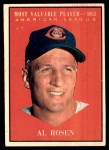 1961 Topps #474   -  Al Rosen Most Valuable Player Front Thumbnail