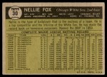 1961 Topps #30  Nellie Fox  Back Thumbnail