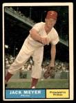 1961 Topps #111  Jack Meyer  Front Thumbnail