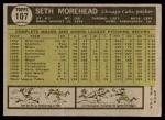 1961 Topps #107 CMP Seth Morehead  Back Thumbnail