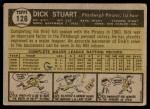 1961 Topps #126  Dick Stuart  Back Thumbnail